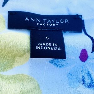 Ann Taylor Yellow and Blue Sleeveless Top